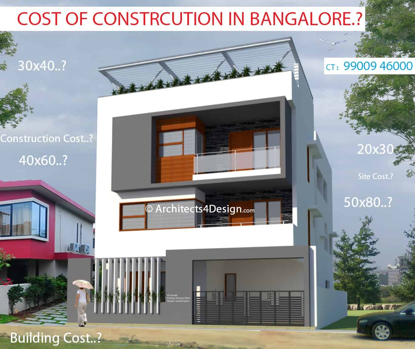Construction Cost in Bangalore A4D | Calculate Cost of
