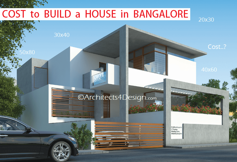 Cost of building a house in bangalore rs 1300 sq ft is for Cost of building house