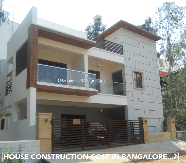 House Construction Cost Bangalore Rs 1300 Sq Ft Basic on Residential Floor Plans And Elevations