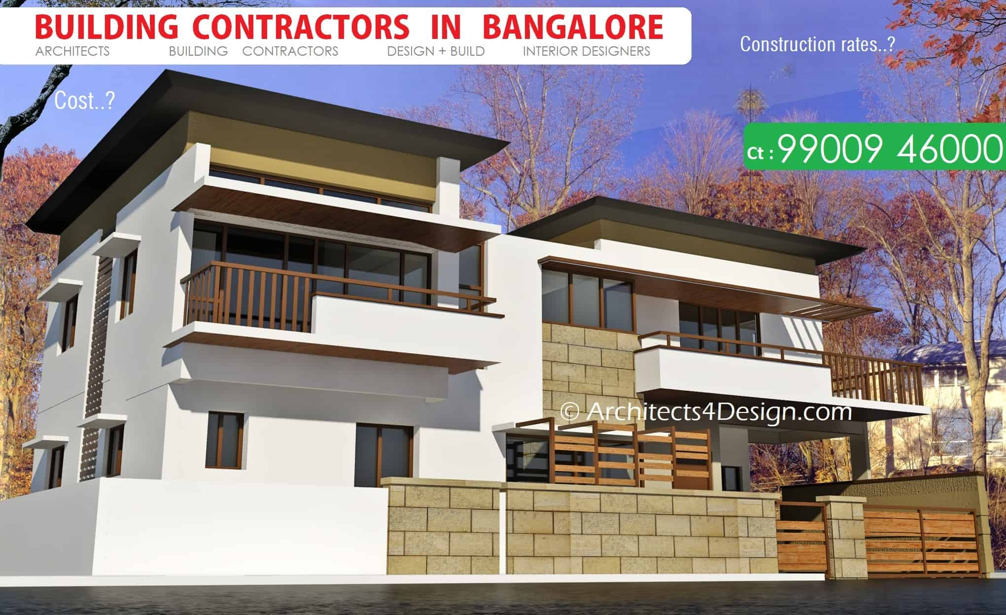 BUILDING CONTRACTORS in Bangalore know current Construction rates in