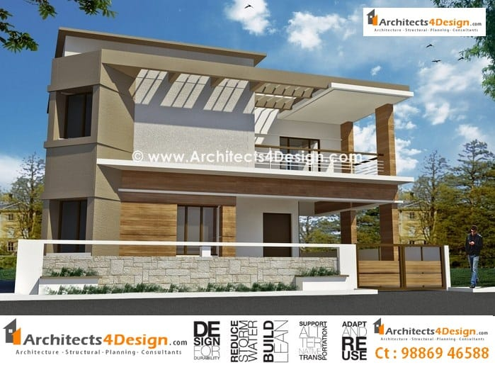 Front Design Of House Construction In India Part - 29: 40x60 House Plans Sample 01