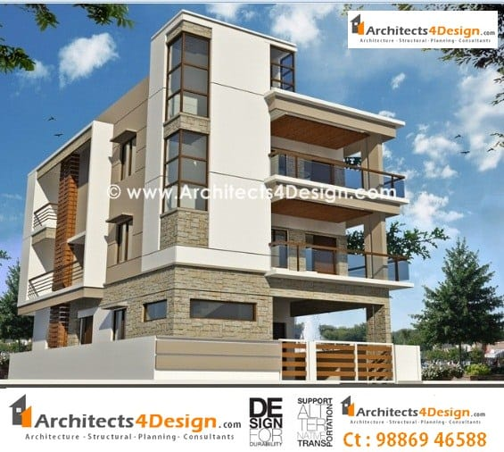 Elevations in bangalore for house apartment villa and for Residential house plans and elevations