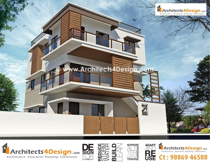 Home Front Elevation In Bangalore : Elevations of residential buildings joy studio design