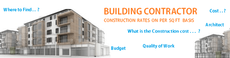 Building contractors construction rates in bangalore is rs for House construction companies