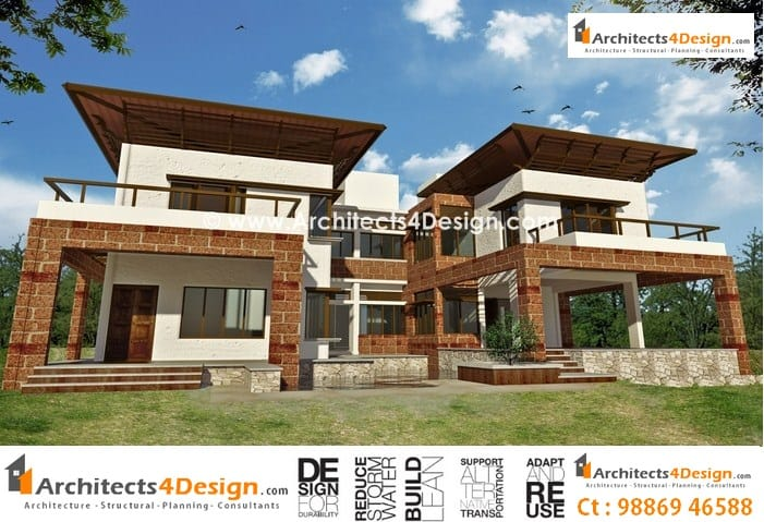 House Elevations in Bangalore for Residential elevations, Front elevations, Building elevations and Apartment elevations in Bangalore a
