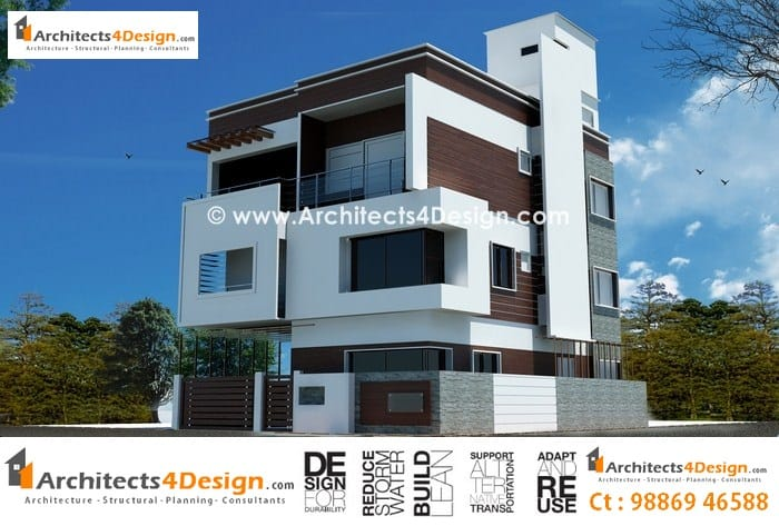 Villa elevations in bangalore at hsr layout
