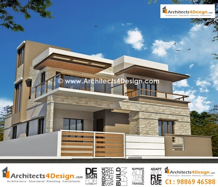 House elevations in bangalore for residential elevations for Design duplex house architecture india