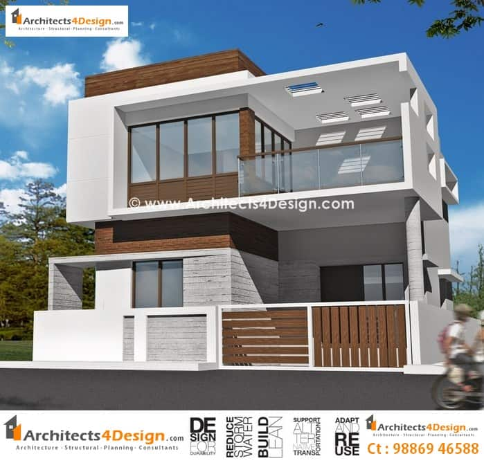 Front Elevation Duplex House Bangalore : Duplex house plans for