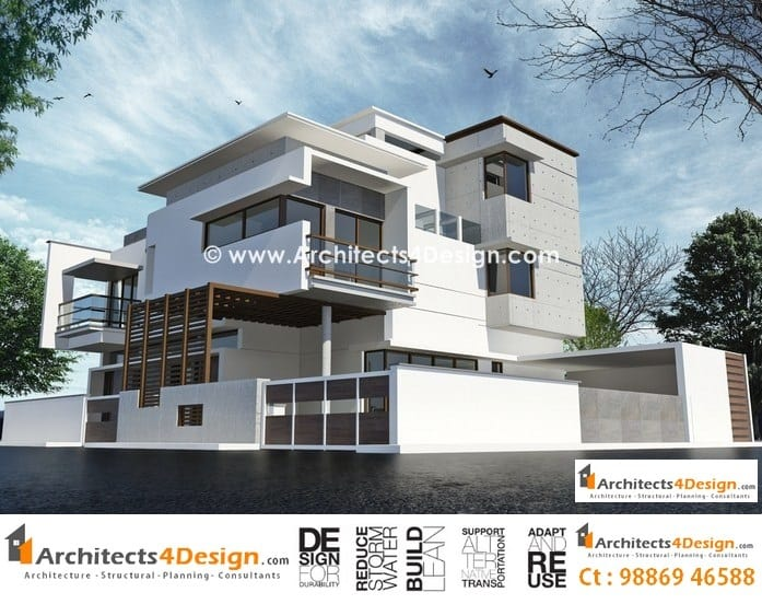 Tips on residential building elevations in bangalore for Best elevations residential buildings