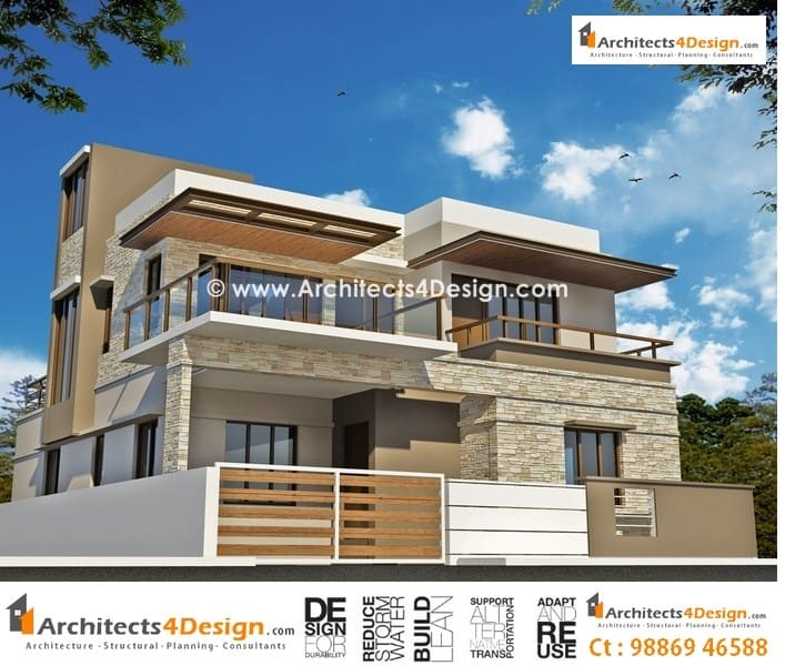 Home Design Exterior Ideas In India: Tips On Residential Building Elevations In Bangalore