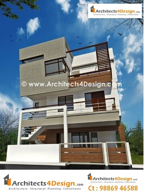 Triplex house plan india home design and style for Free indian duplex house plans