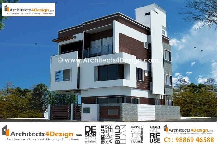 Duplex model house design india idea bedroom design for Free indian duplex house plans
