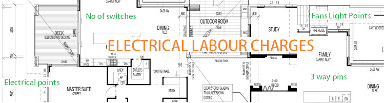 Electrical labour charges for electrical works