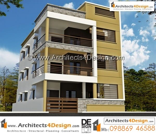30x40 Elevations Sample Duplex House