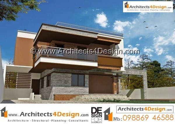 This are large duplex house plans but having small built up area with 20x30 house elevations with 3 car parking and 3bhk with internal staircase and an large balcony overseeing the garden area.