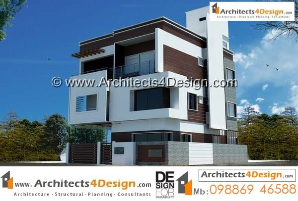 Duplex house plans sample south facing 30x40 with g+2 floors with one car parking