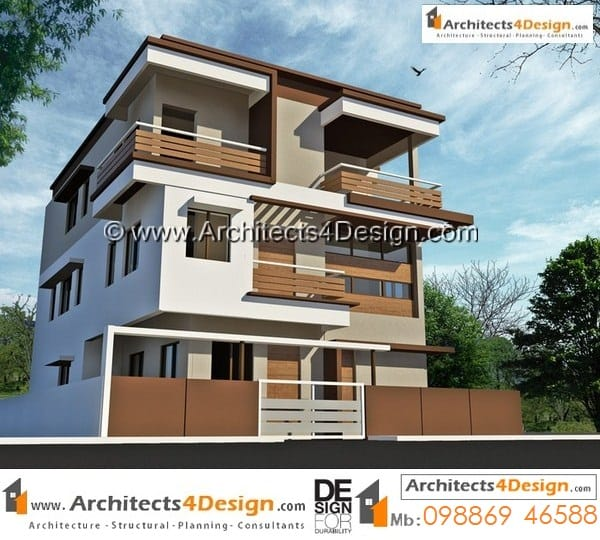 duplex house plans on 30x40 east faciing plans having g+2 floors on a plot size of 1200 sq ft with 2600 sq ft built up area.
