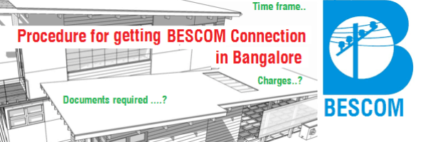 How to Apply for BESCOM connection in Bangalore | Deposit Charges ...