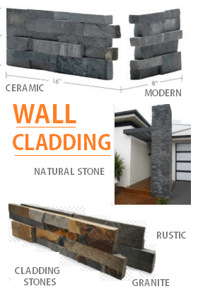 Cladding for wall bu natural stone