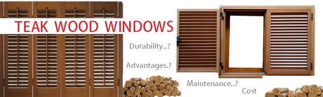 Teak Wood Windows