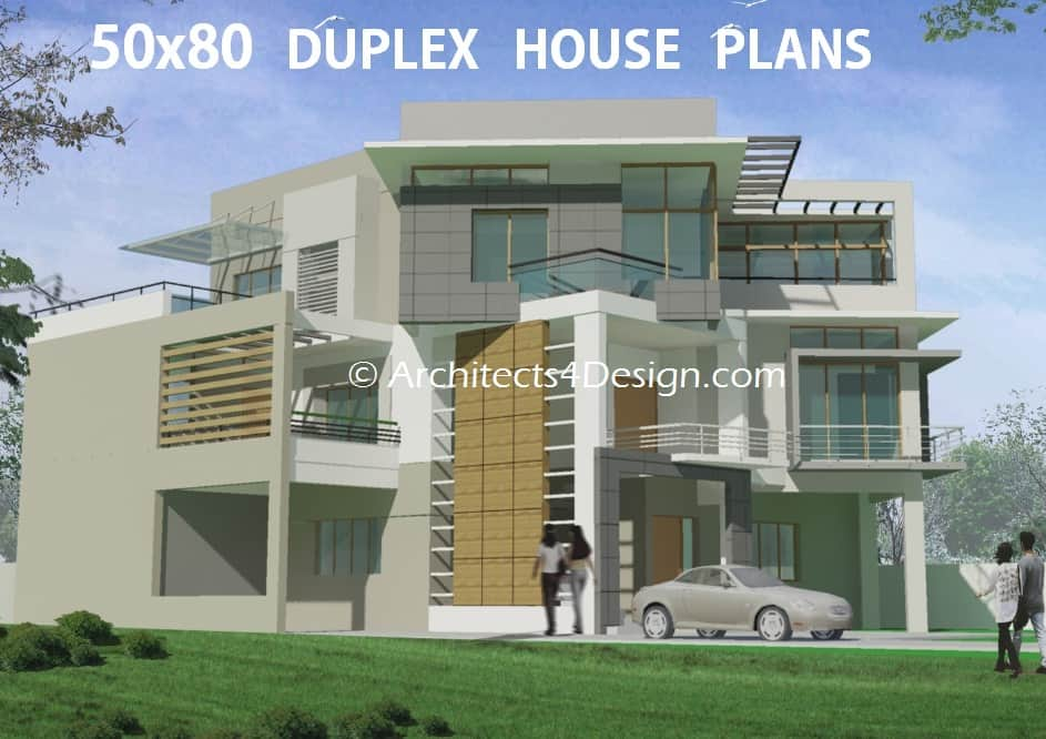 50x80 Duplex House Plans And Sample House Designs