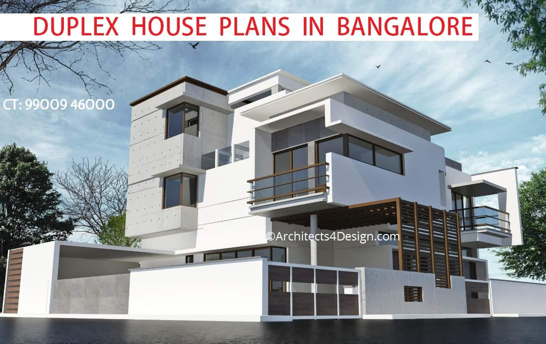 Front Elevation Duplex House Bangalore : Duplex house plans in bangalore on