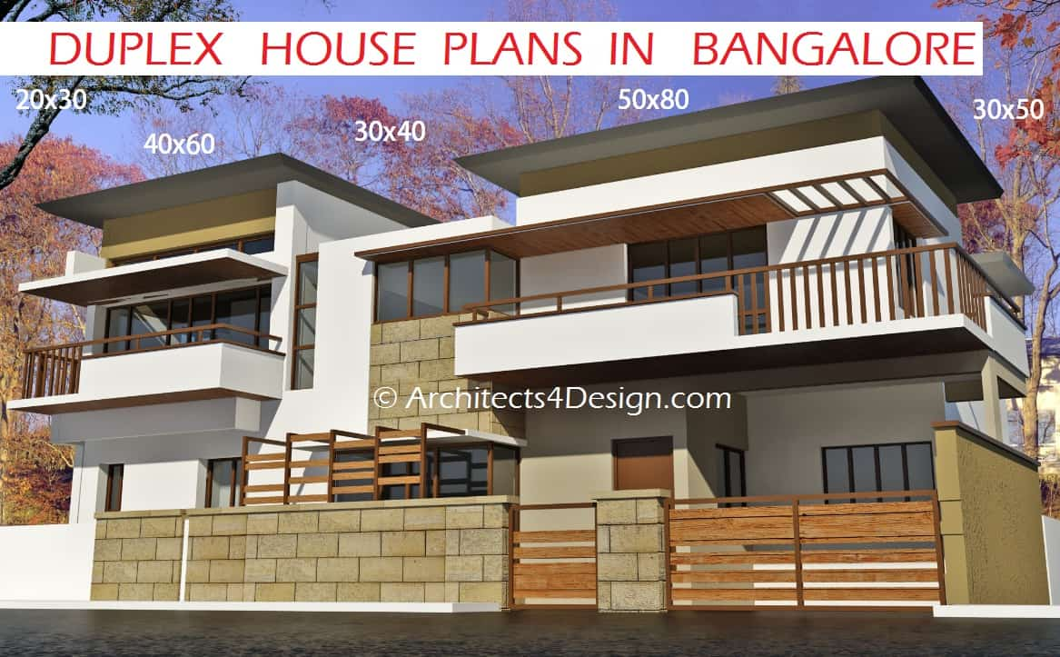 Duplex house plans in bangalore or sample house
