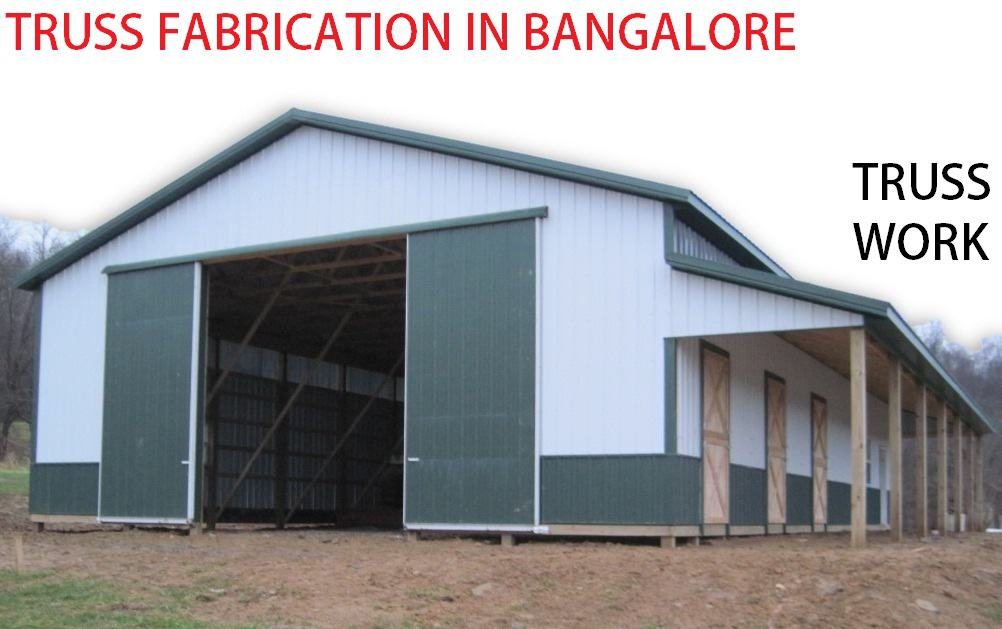 Truss fabrication in bangalore truss work in bangalore Industrial sheds Large conference halls Cafeteria
