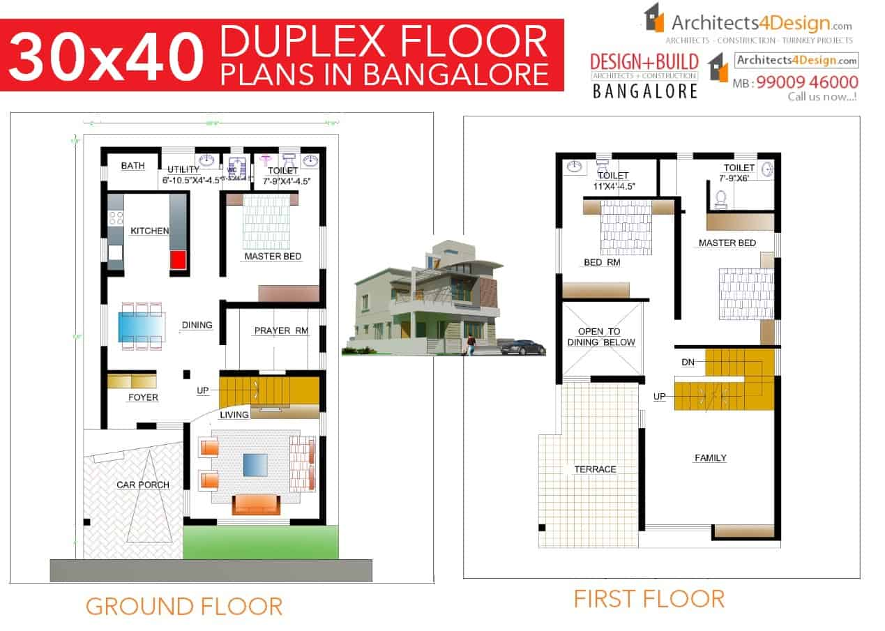 North facing duplex house plans as per vastu escortsea Home design and vastu