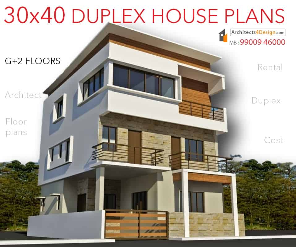 30x40 house plans in bangalore for g 1 g 2 g 3 g 4 floors for 30 40 duplex house images