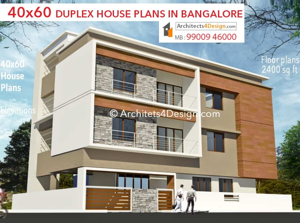 Front Elevation Duplex House Bangalore : House plans in bangalore duplex