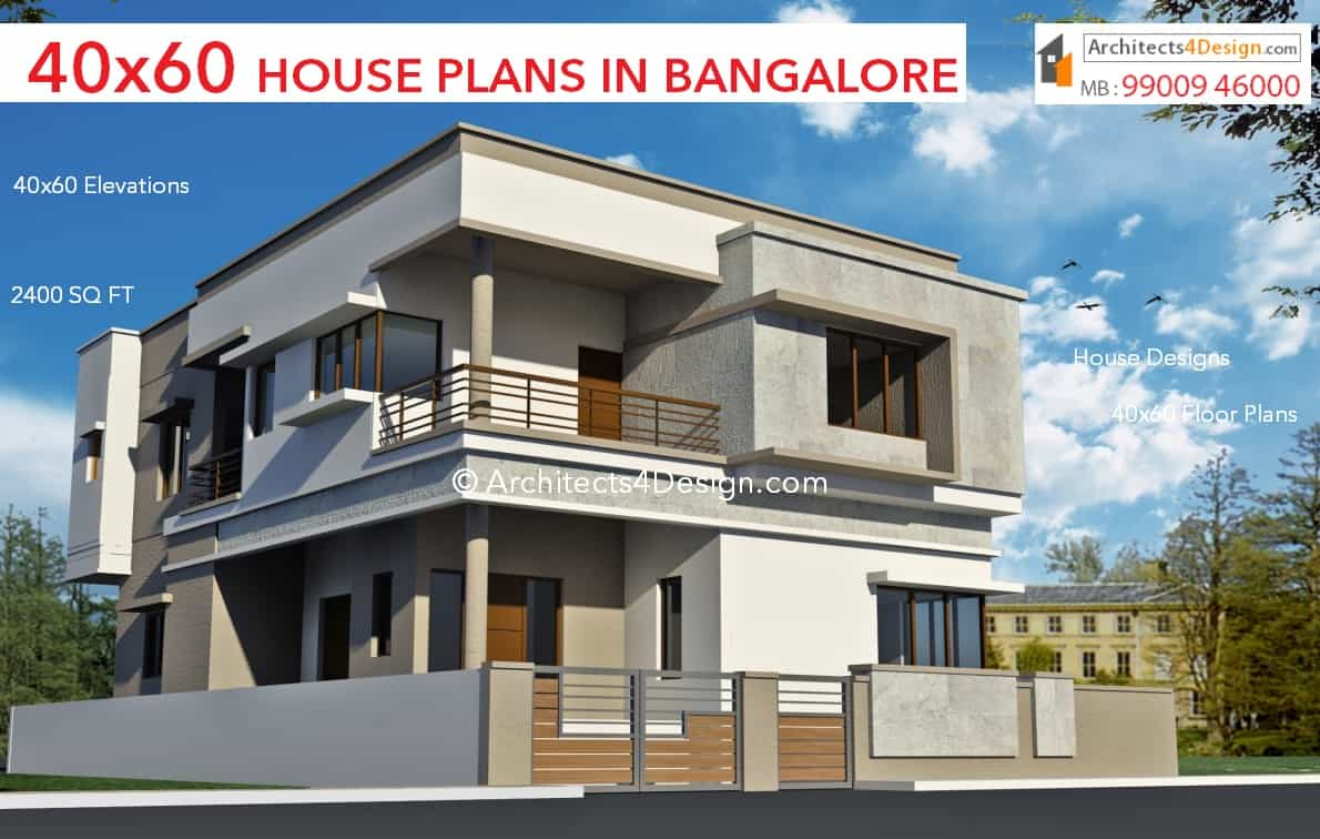 Smaple Residential 40x60 house plans in bangalore 40x60 elevations in bangalore floor plans