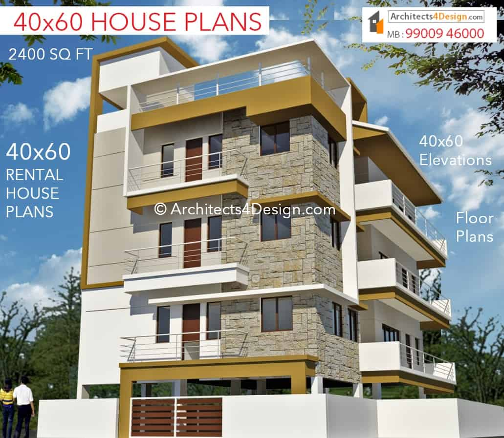 40x60 house plans in bangalore 40x60 duplex house plans for House elevation for three floors building
