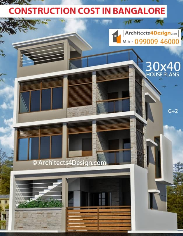 20x30 30x40 40x60 50x80 house construction in bangalore cost of construction in bangalore 30x40