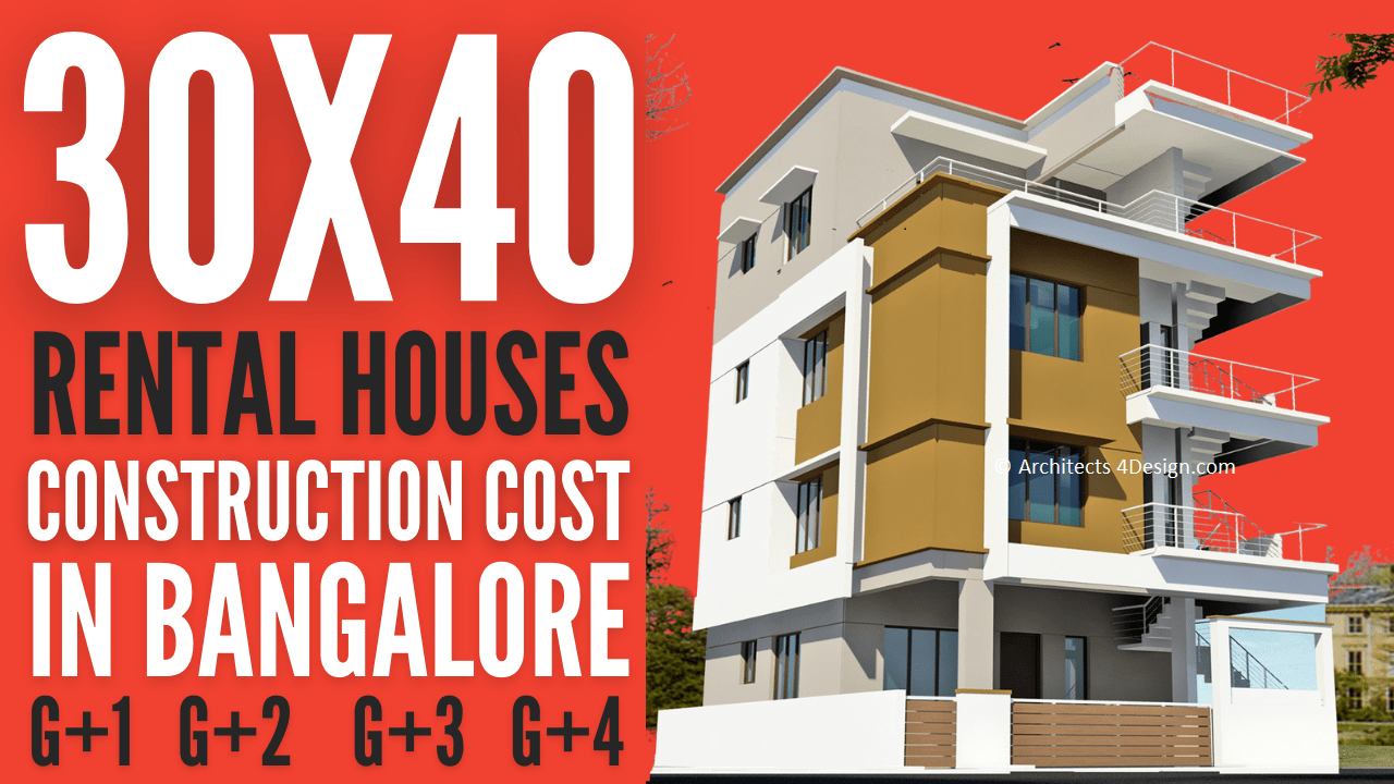 30x40 Rental house construction cost in bangalroe 30x40 construction cost