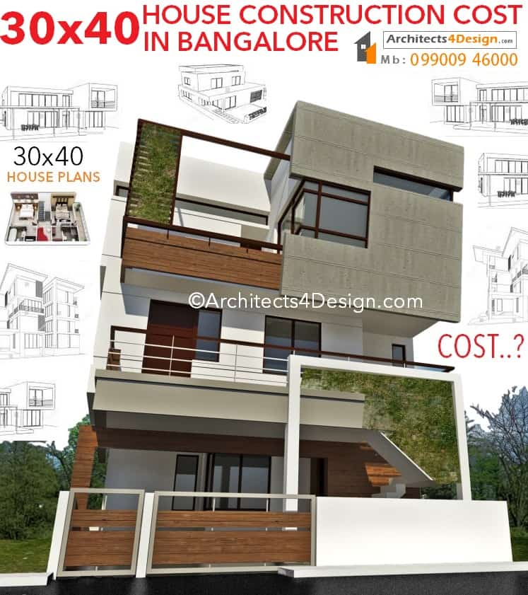 Construction cost in bangalore 30x40 construction cost of construction bangalore 30x40 house plans