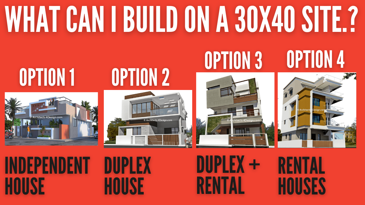 What can i build or construct on a 30x40 site in Bangalore