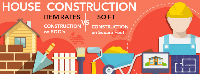 item rateboqs vs sq ft house construction