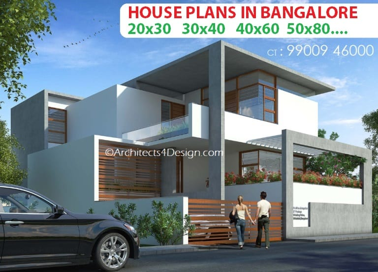 House Plans in Bangalore A4D | Residential House plans in Bangalore