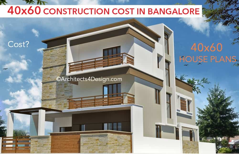 40x60 construction cost in bangalore for 40x60 house plans in bangalore