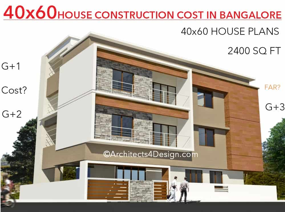 sample house construction cost in Bangalore