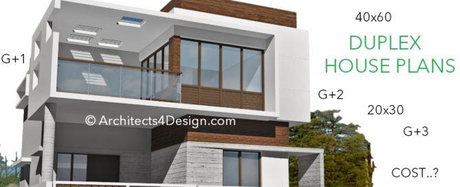 Duplex house construction cost in Bangalore 20x30 30x40 40x60 50x80
