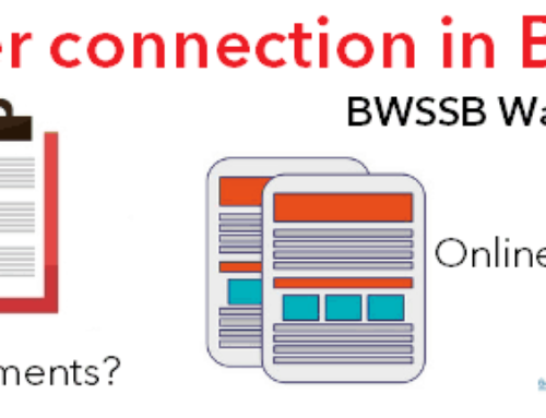 BWSSB water connection in Bangalore | Procedure for Getting BWSSB water connection in Bangalore | BWSSB water connection charges prorata Bangalore