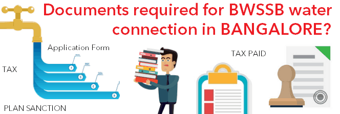 Documents required for BWSSB water connection Bangalore