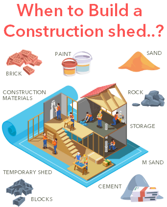 Building a construction shed to store