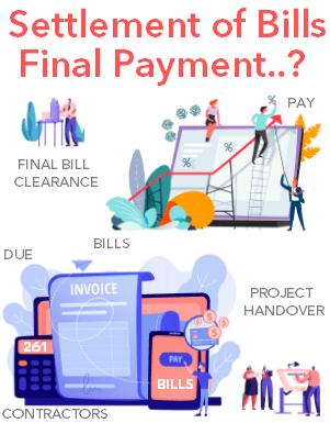 Final bill for contractors