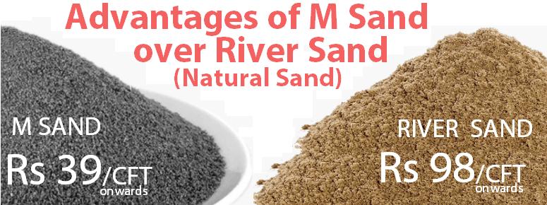 Advantages of M Sand over River sand Natural sand