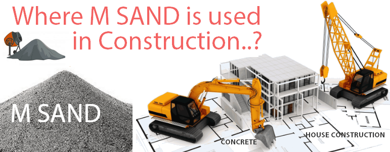 Where M sand is used in Construction